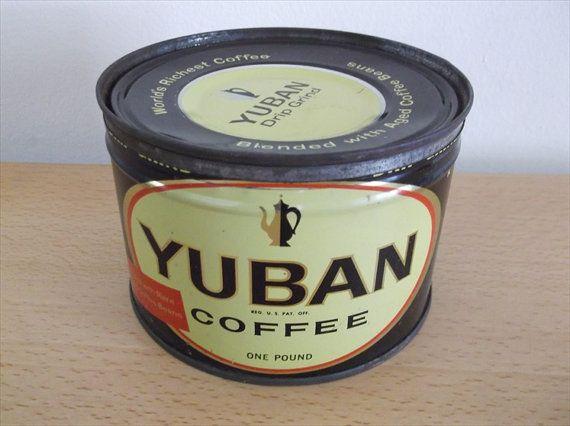 Coffee Can  Yuban Coffee Can  Yuban Coffee Tin  by VintageAdoption