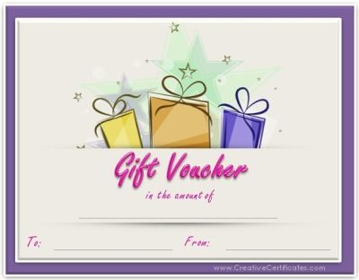 Free printable gift voucher template Instant download No - printable vouchers template
