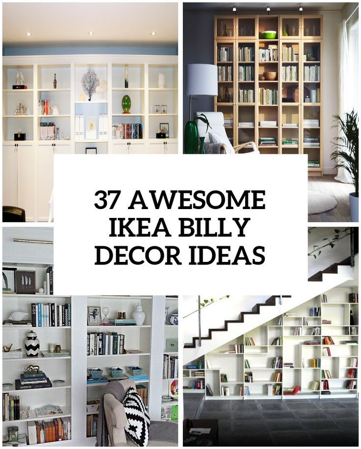 37 Awesome Ikea Billy Bookcases Ideas For Your Home Ikea Built In Ikea Furniture Hacks Ikea Billy Bookcase