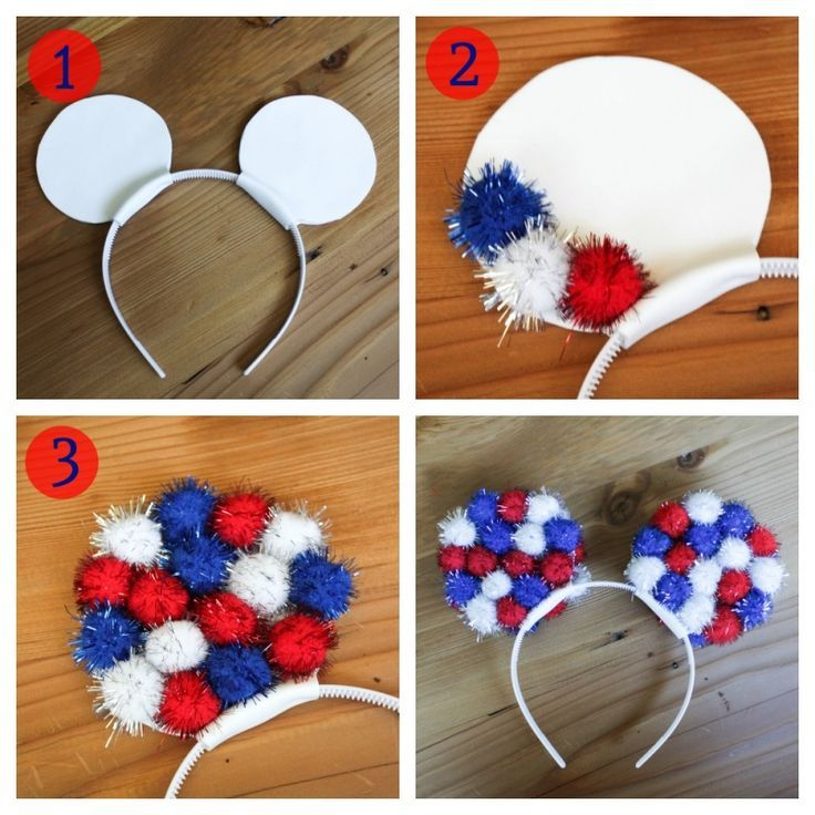 Red, White, and Blue Mickey Ears 4th of July Disney #fourthofjuly #disney