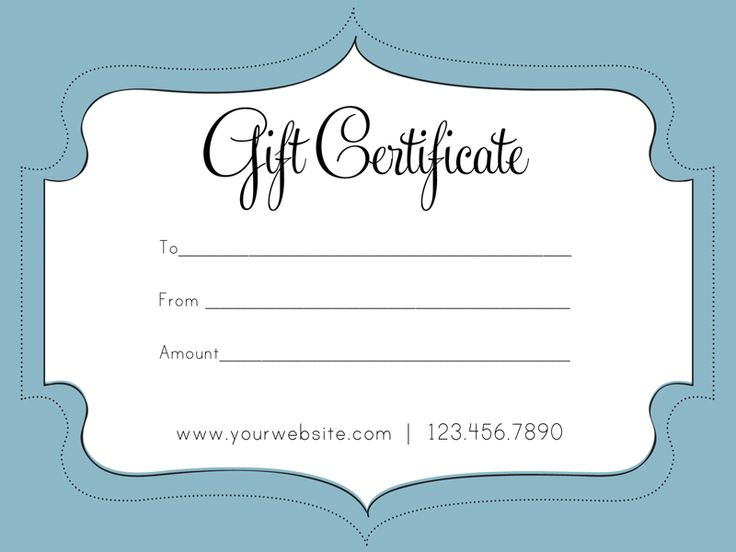 25 best ideas about Gift Certificate Templates – Gift Voucher Free Template