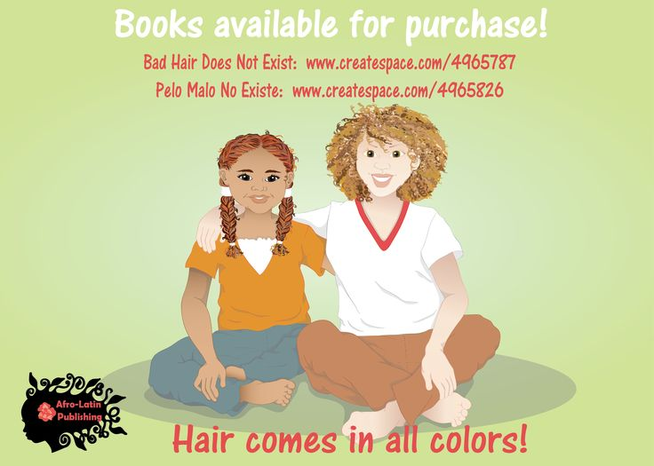 Black people's hair comes in all shapes, textures, and colors, but Bad Hair Does Not Exist.  Books available now on amazon #nobadhair #blackpeople #naturalhair #blackgirls #badhairdoesntexit
