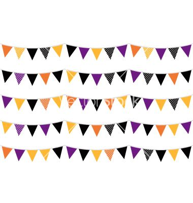 Halloween colorful bunting or flags vector 1633436 - by lordalea on VectorStock®