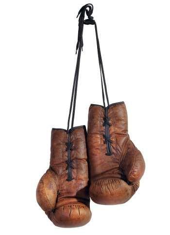 Boxhandschuhe aus Echtleder 30x18 cm