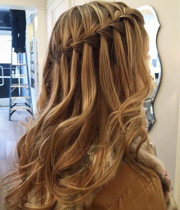 Wasserfall Frisur Bilder 3 Abiball Frisuren Pinterest
