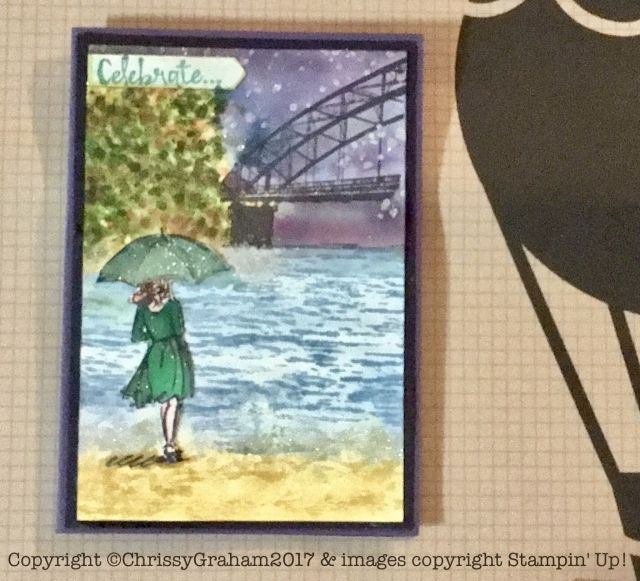 Don't you just love this card made with the Beautiful You, High Tide and Whereever You Go stamp sets? Find out what else I shared at Chris's party at www.thecreativeeclectic.com #stampinup #creativeLife #beautifulyou #hightide #whereeveryougo #rubberstamping