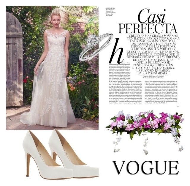 """Wedding Dress"" by dreamhigh426 ❤ liked on Polyvore featuring Maggie Sottero, Jessica Simpson, Whiteley, Improvements and Blue Nile"