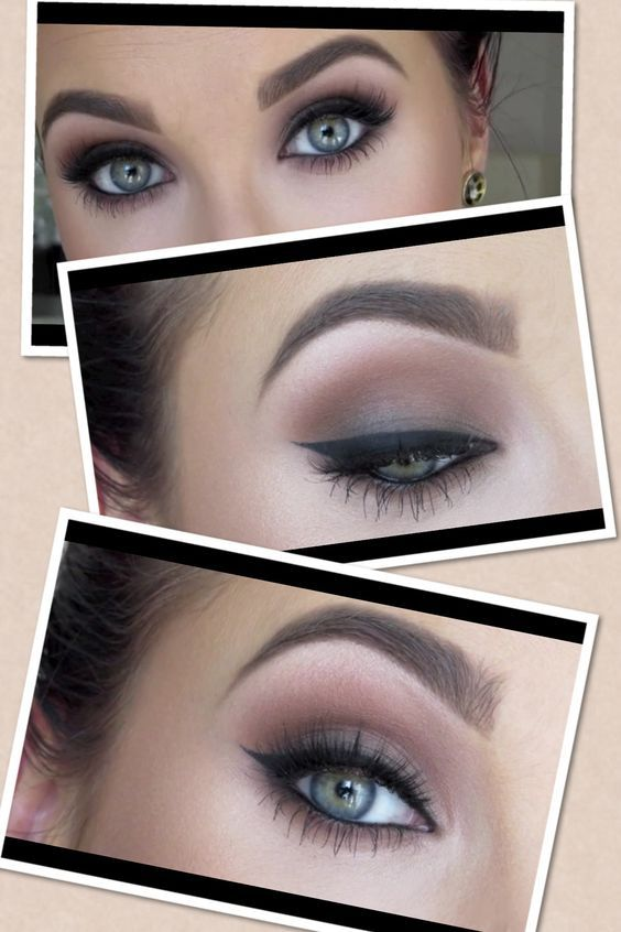 Jaclyn Hill/Daytime Smokey Eye. Products used: Soft Brown, Saddle, Ground Brown, Carbon (to buff out eyeliner).: