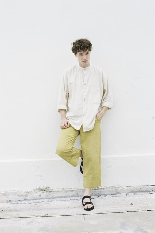 Seeker x Retriever Sustainable Handmade Fashion Pants Origami Trousers: Mango