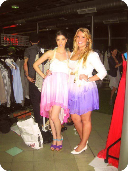 Model: Jenna Trakas with designer Denise SL Spalk