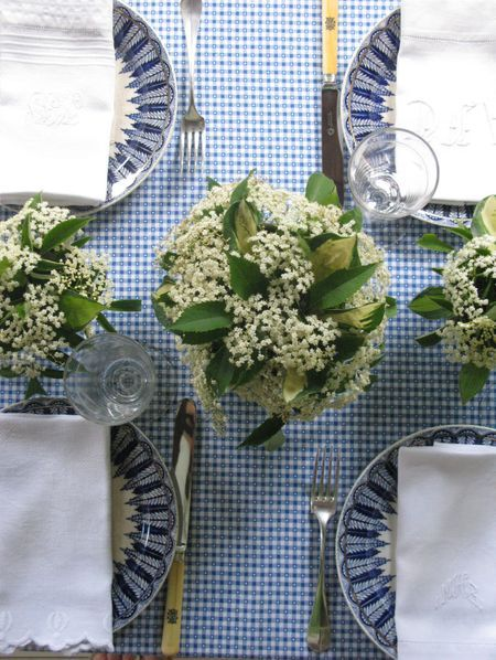 summer dinner party: Tables Sets, Tables Tops, Parties Ideas, Blue Gingham, Blue Whit, Places Sets, Summer Dinners Parties, Honeymoons Destinations, Blue And White