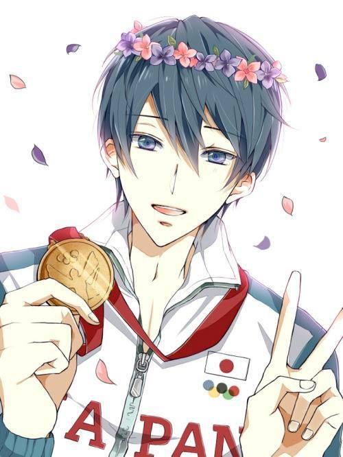 Gold ...  Free! - Iwatobi Swim Club, haruka nanase, haru nanase, haru, free!, iwatobi, nanase