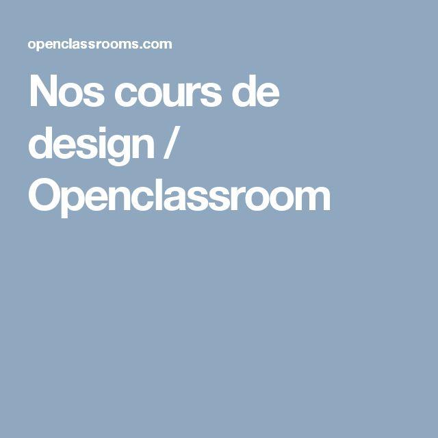 Nos cours de design / Openclassroom