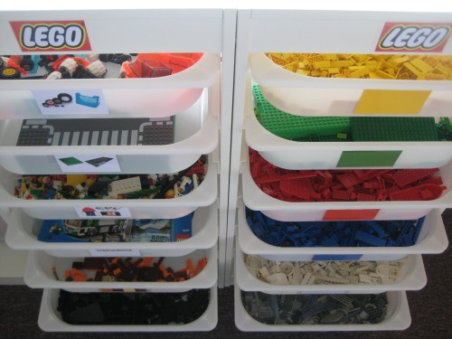 Lego Organization with printable labels