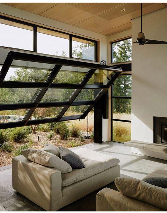50 Amazing Cozy Living Room Design Ideas Glass Garage Door