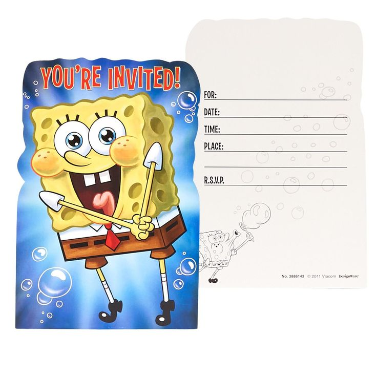 Awesome Party Supplies SpongeBob Invitations just added...