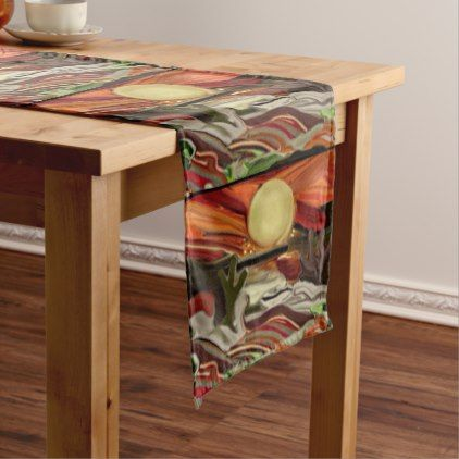 Southwestern Skies Abstract Art Medium Table Runner - kitchen gifts diy ideas decor special unique individual customized