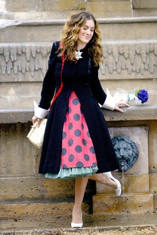 #SexandtheCityfashion Polk-a-dot CarrieBradshaw