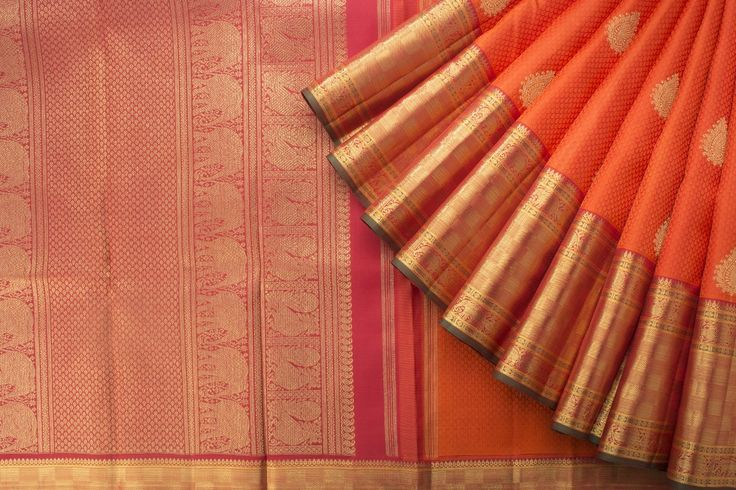 ORANGE KANAKAVALLI KANJIVARAM SAREE