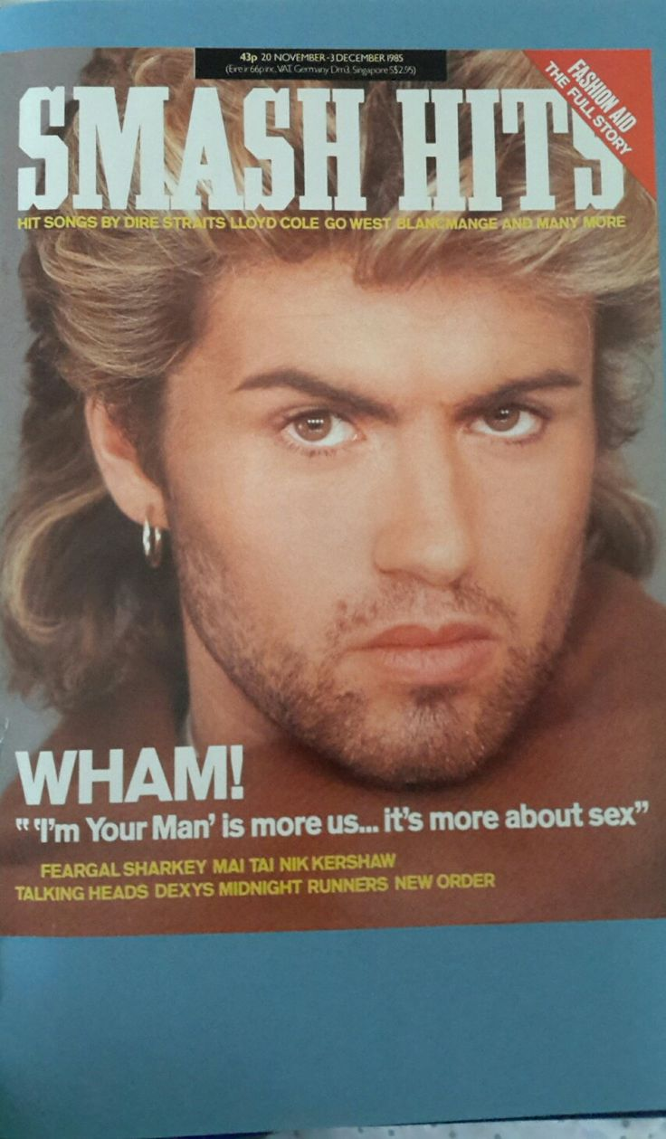 George michael pop superstar has died at 53 new york times - George Michael On The Front Cover Of Smash Hits Magazine 20 11 85