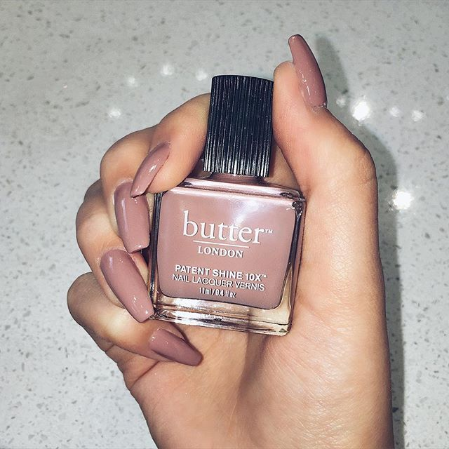 Obsessed with this colour ! 'Mums the Word' by Butter London. Nails done by Julie at @BlingNailStudio