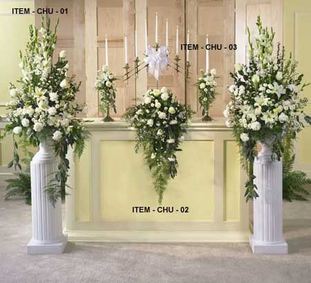 wedding floral arrangements | wedding flower arrangements church