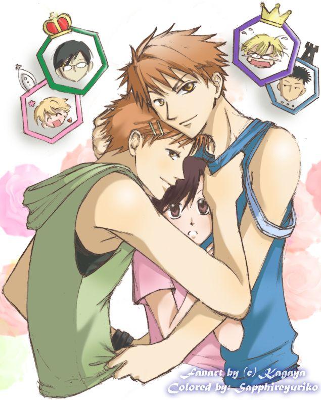Amo Haruhi x gêmeos Hitachiin, principalmente por causa das reações do Tamaki >u<