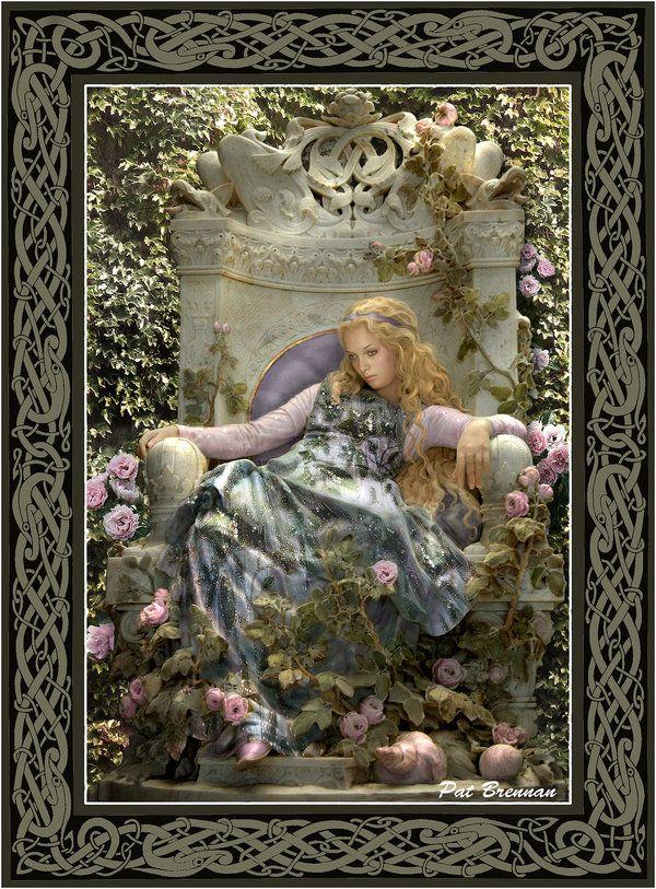 Briar Rose: Fantasy, Sleep Beautiful, Pat Brennan, Stockings Photos, Artists Pat, Brennan Artists, Briar Rose, Celtic Lady, Fairies Tales
