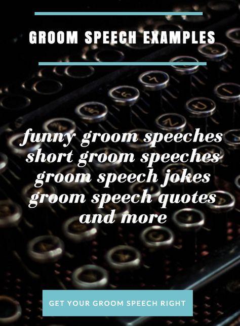 groom speech samples