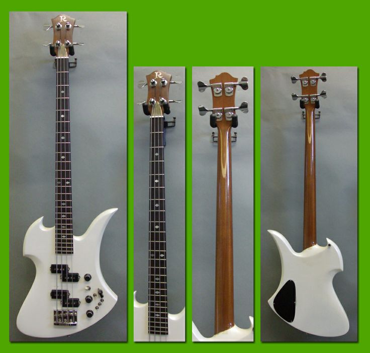 1984 B.C. Rich Mockingbird Bass White Pearl