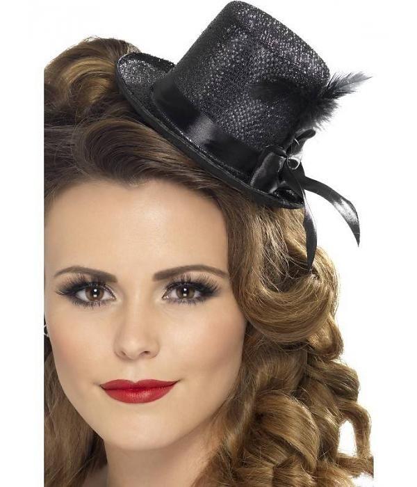 Mini hoge hoed zwart