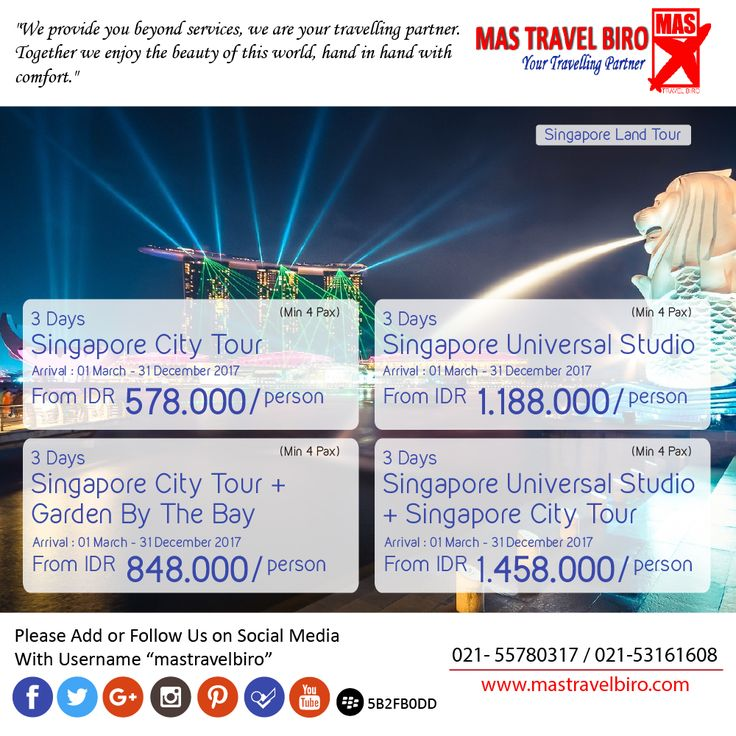 lagi di singapore atau punya rencana ke singapore ? pesen aja land tour singapore dibawah ini ;) #mastravelbiro #singapore #tour #landtour