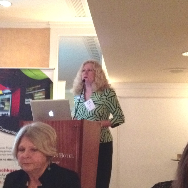 Jan Robinson, President of @csaebc speaking at their monthly meeting.
