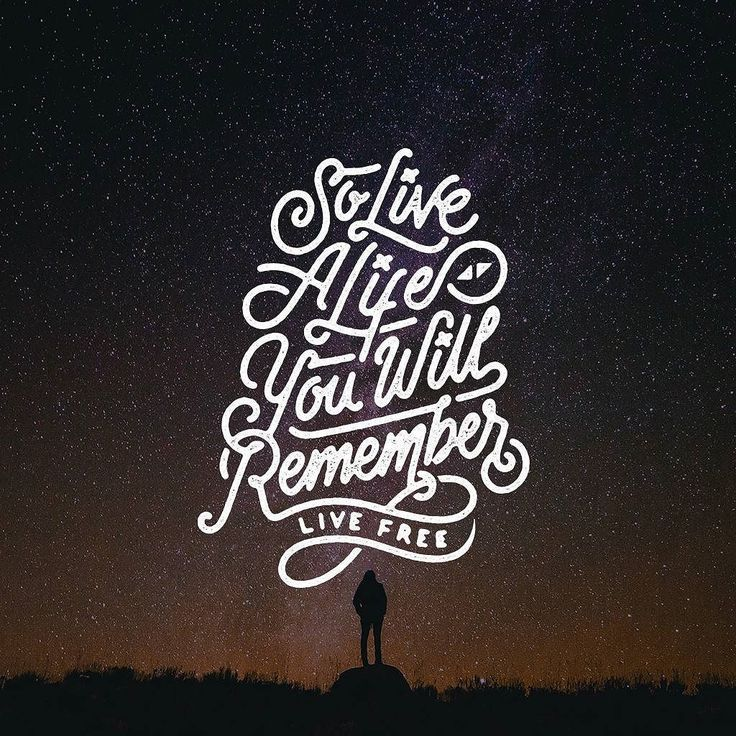 live a life you will remember lettering - Buscar con Google