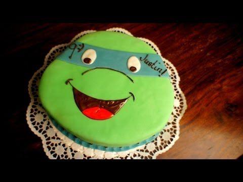 ▶ Turtles Kuchen - Teenage Mutant Ninja Turtles Torte - von Kuchenfee - YouTube