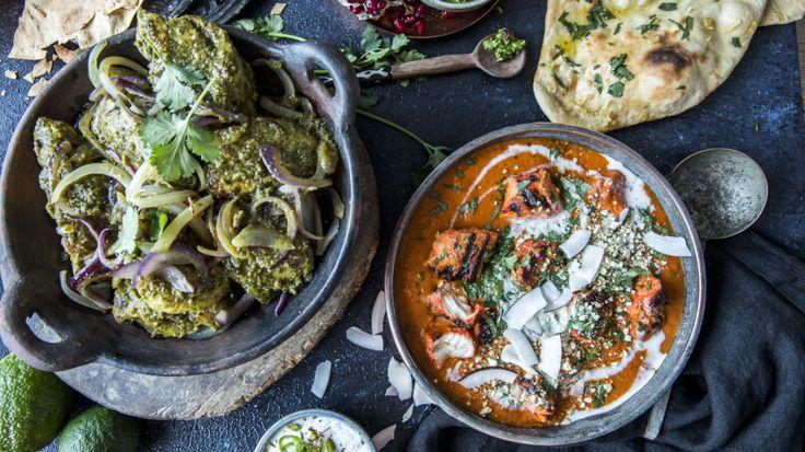 Lise Finckenhagens indiske favoritter: Tandoori kylling og goan green chicken med godt tilbehør