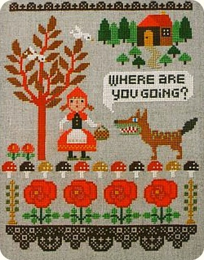 Red riding hood sampler