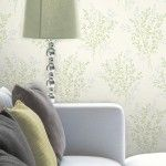 Fine Decor Summer Blossom Glitter Wallpaper in Green - FD40893