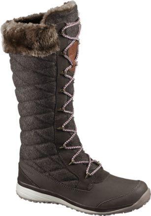 Salomon Women's Hime High Winter Boots Absolute Brown/Light Grey 6.5
