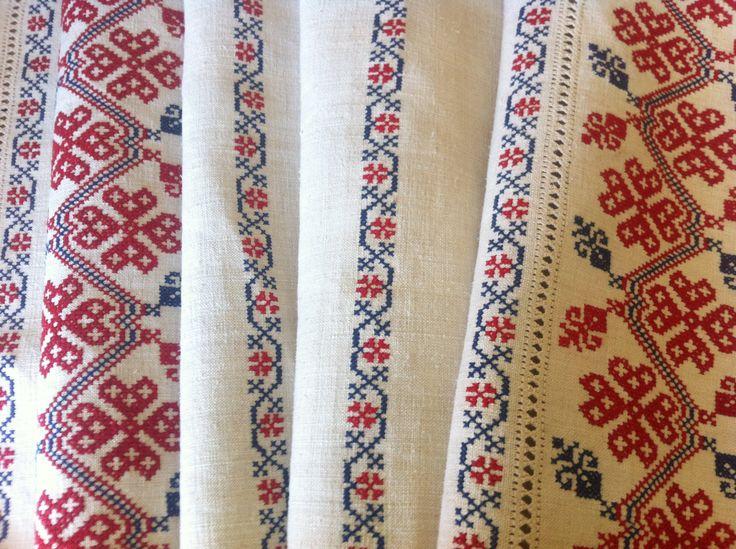 PIROSKA - gorgeous antique linen, restored & laundered, newly embroidered. An heirloom piece $210 www.piroska.com.au