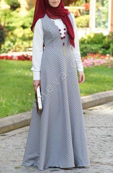 Yüksek Bel Elbise - Lacivert