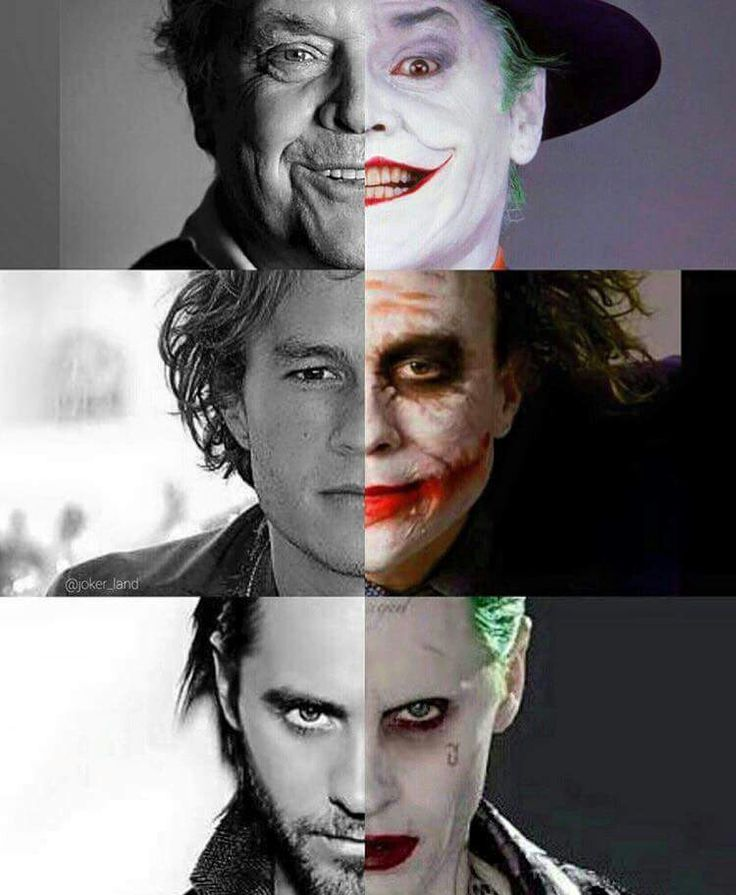 The Joker and the actors behind him