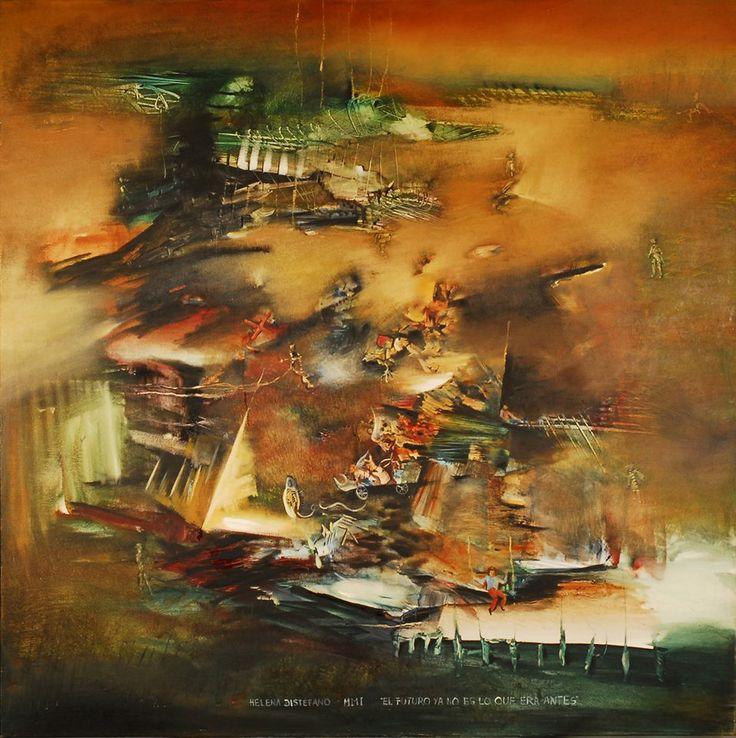 """""""El futuro ya no es lo que era antes"""" - Helena Distéfano - Oleo sobre tela 140 x 140 cm www.esencialismo.com"""