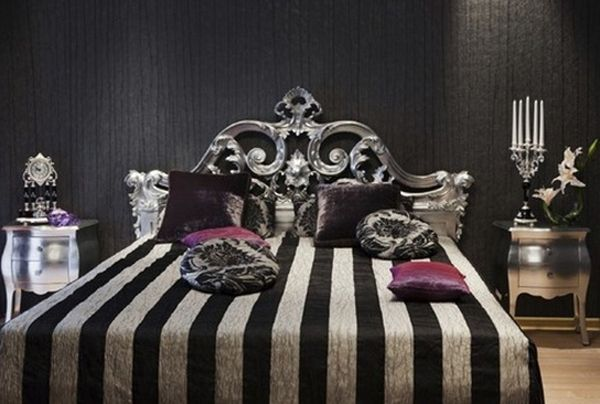 Love this gothic bedroom decor! I want it I want it!