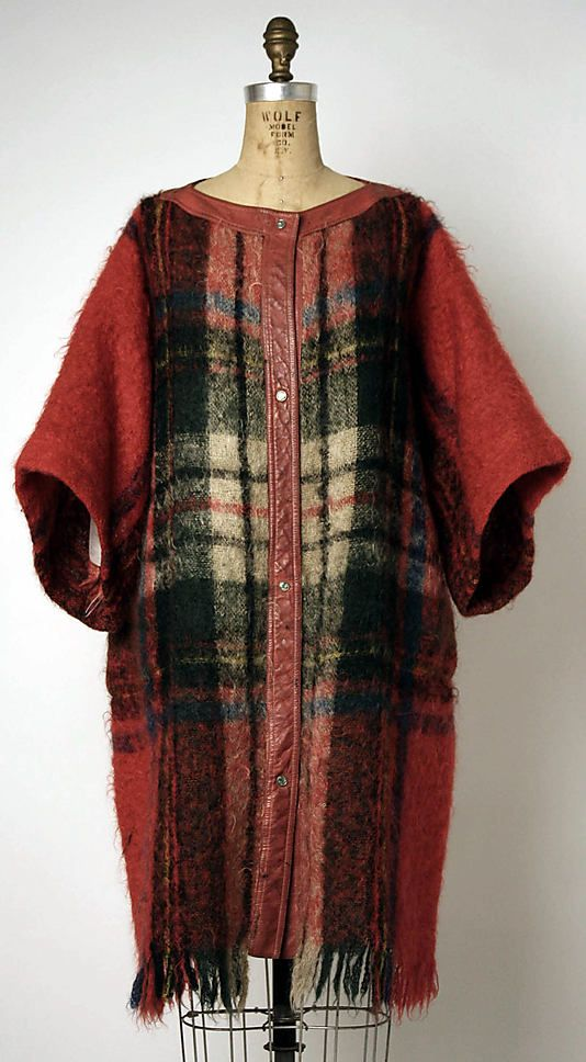 Bonnie Cashin coat in wool and leather. 1957-1959. Gift of Louise Nevelson, 1978. The Metropolitan Museum of Art online collection.