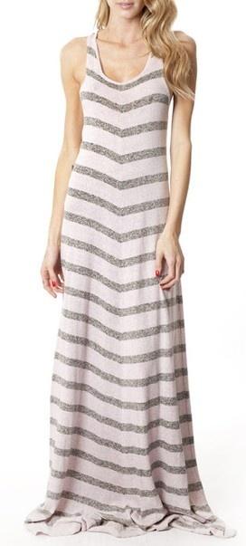 Striped Maxi Dress // #comfy
