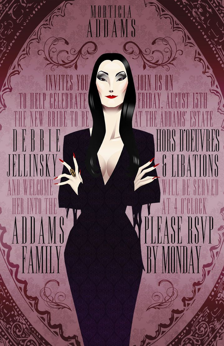Morticia Addams Bridal Shower Invite Poster by chrisables on DeviantArt