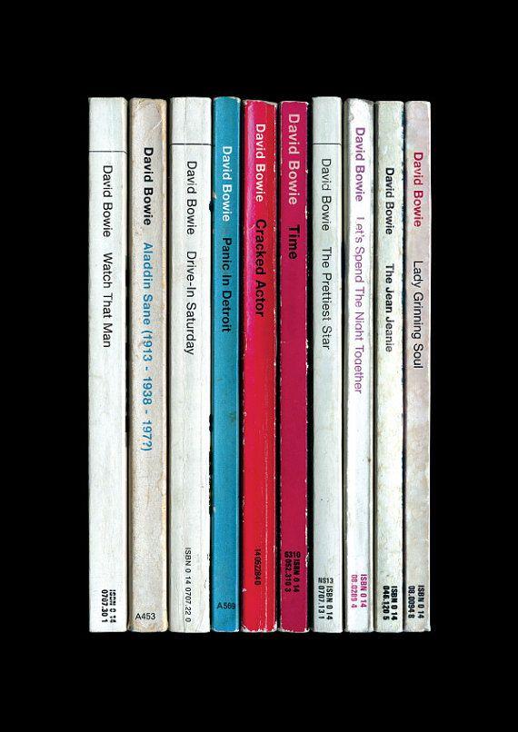 David Bowie 'Aladdin Sane' Album As Penguin Books Poster Literary Music Print