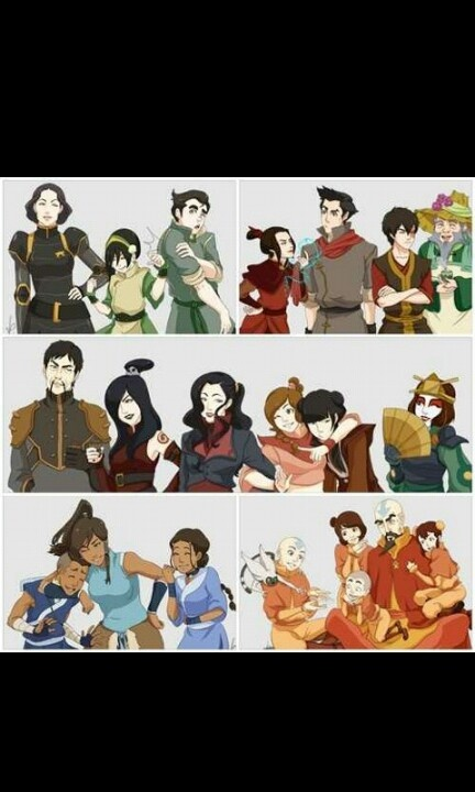 Avatar the last air Bender with the legends of Korra (: <3