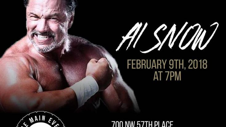 "Interview with ECW and WWE alum Al Snow | Miami Herald  ||  Al Snow, an alum of ECW and WWE, will be in South Florida on Saturday, Feb. 10 for a Coastal Championship Wrestling show at the Coral Springs Charter School Gym. Snow, who appeared in the 1993 movie ""Rudy,"" will also conduct a seminar on Friday, Feb. 9 at the Main Event Training Center in Fort Lauderdale…"